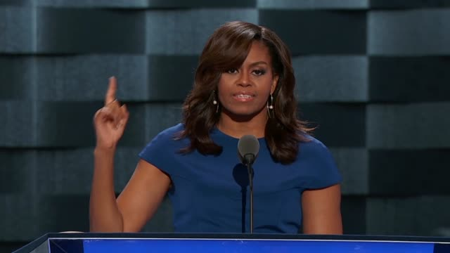 first lady michelle obama tells the 2016 democratic national convention that her desire is to see all americans prosper, and to let america's youth... - prosperity stock videos & royalty-free footage