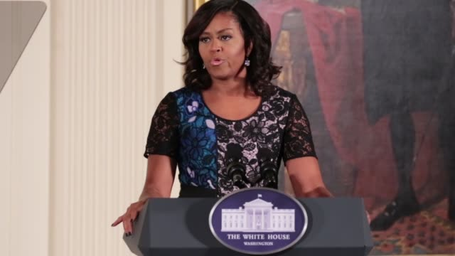 First Lady Michelle Obama welcomed the 2016 National Arts and Humanities Youth Program Awardees with a ceremony in the East Room of the White House...