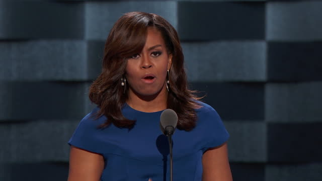 first lady michelle obama's speech at the 2016 democratic national convention in philadelphia, pennsylvania. michelle obama: i will never forget that... - only girls stock videos & royalty-free footage