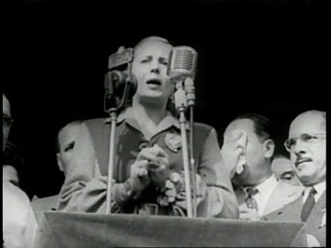 first lady of argentina eva peron makes a speech. - argentina stock videos & royalty-free footage