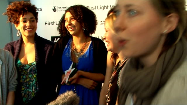 first light film awards: interviews; joanna page and kaya scodelario & winners best film by over 13's - 'this was forever' by polkadotsonraindrops... - film award type stock videos & royalty-free footage