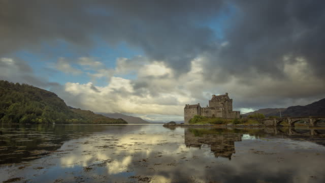 First light over Eilean Donan Castle on Loch Duich in the Scotish Highlands