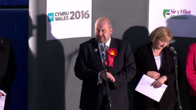 first minister carwen jones delivers eulogy for carl sargeant lib int various of carl sargeant am on stage during declaration at welsh assembly... - eulogy stock videos & royalty-free footage
