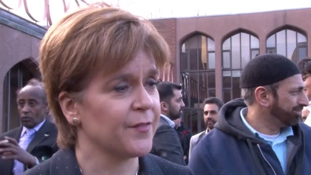 first minister nicola sturgeon expressed solidarity with the muslim community after attackers opened fire at two mosques in christchurch during... - place of worship stock videos & royalty-free footage