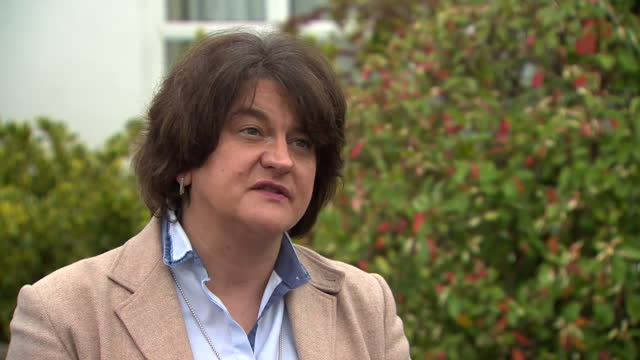 first minister of northern ireland, arlene foster saying that the ni government will only apply coronavirus restrictions that are necessary - applying stock videos & royalty-free footage