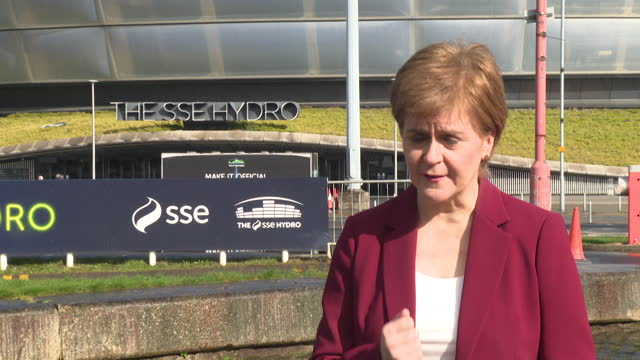 """first minister of scotland nicola sturgeon criticising alex salmond's new alba party, saying """"now is not the time to gamble with the future of the... - risk stock videos & royalty-free footage"""