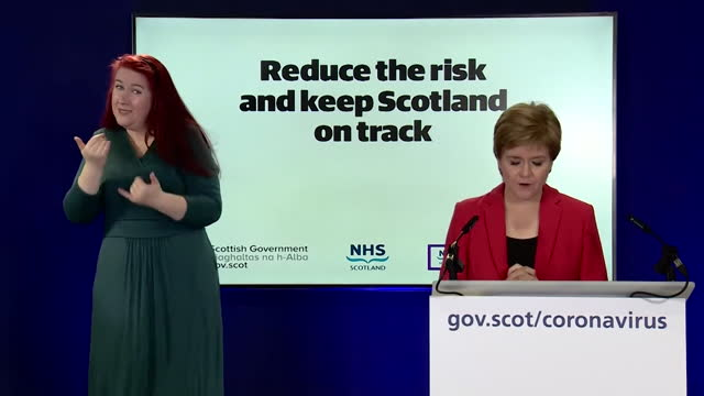 """first minister of scotland nicola sturgeon saying cases of coronavirus have """"doubled over the past seven days"""" - moving up stock videos & royalty-free footage"""