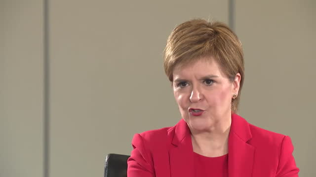 first minister of scotland nicola sturgeon saying leading the country through the coronavirus pandemic is her first priority, followed by scottish... - urgency stock videos & royalty-free footage