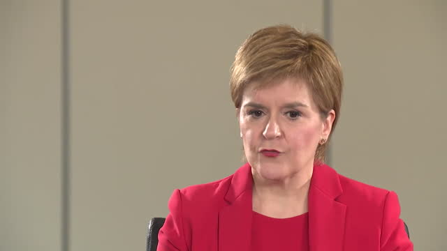 """first minister of scotland nicola sturgeon saying she """"got things wrong"""" during the coronavirus crisis - """"bbc news"""" stock videos & royalty-free footage"""