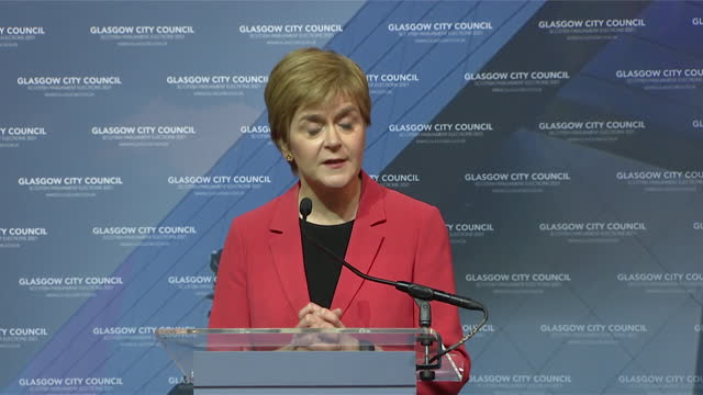 """first minister of scotland nicola sturgeon saying she intends to """"steer scotland through the covid crisis"""" and then pursue a second independence... - pursuit concept stock videos & royalty-free footage"""