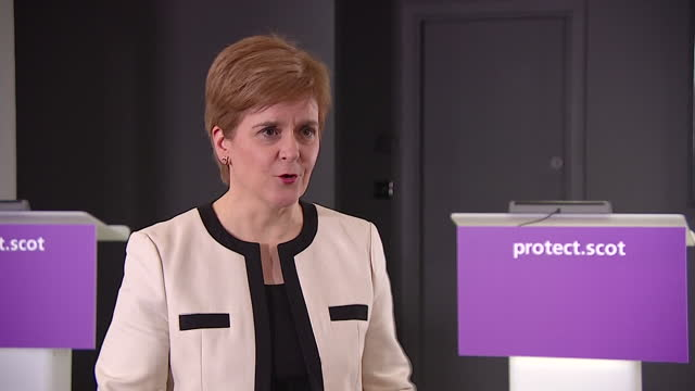 """first minister of scotland nicola sturgeon urging people to """"limit their interaction"""" during the christmas period due to coronavirus - social gathering stock videos & royalty-free footage"""