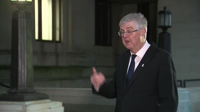 """first minister of wales mark drakeford saying the coronavirus 'christmas bubble' is """"not an instruction to travel"""" and people should still be sensible - instructions stock videos & royalty-free footage"""