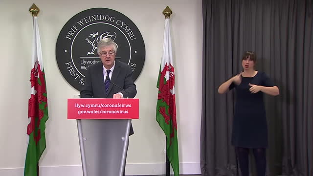 first minister of wales mark drakeford saying we are all in this together after wales entered into a coronavirus lockdown - {{relatedsearchurl(carousel.phrase)}} stock videos & royalty-free footage