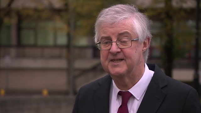 """first minister of wales mark drakeford saying """"we must stay at home and not mix with other people"""" as wales enters into coronavirus lockdown - shelter in place concept stock videos & royalty-free footage"""