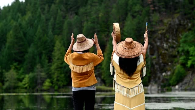 first nations women in traditional clothing - origins stock videos & royalty-free footage