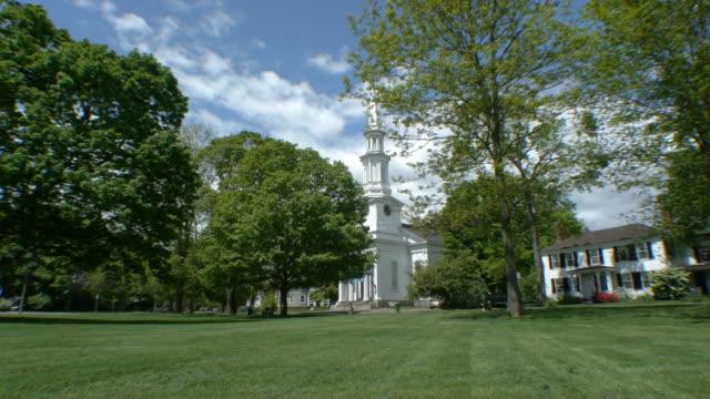 first parish in lexington church - lexington massachusetts stock videos & royalty-free footage