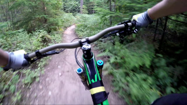 first person perspective enduro mountain biking - squamish stock videos & royalty-free footage