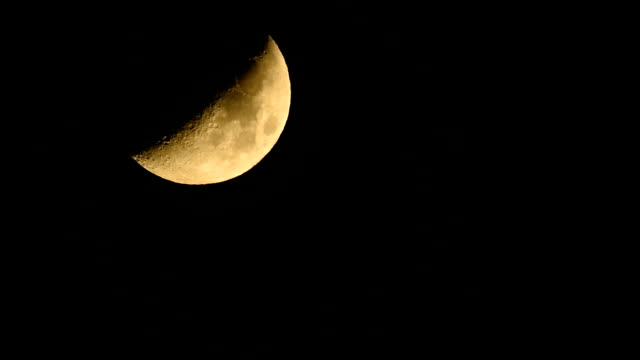 first quarter moon moving down hd video - full hd format stock videos & royalty-free footage