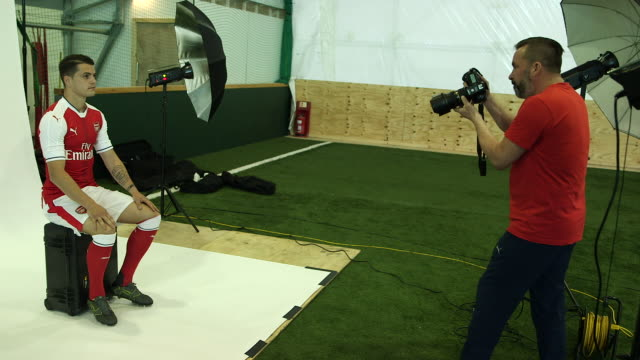 First shots of Arsenal's new signing Granit Xhaka