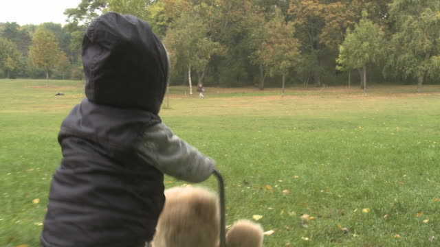first steps of a one year old boy - erste schritte stock-videos und b-roll-filmmaterial