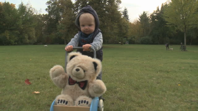 first steps of a one year old boy - teddy boy stock videos & royalty-free footage