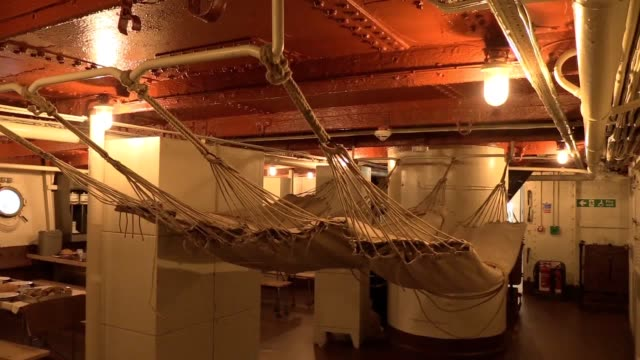 first world war ship docked in belfast has been shortlisted for the most prestigious museum prize in the world. hms caroline is the last remaining... - museum stock videos & royalty-free footage