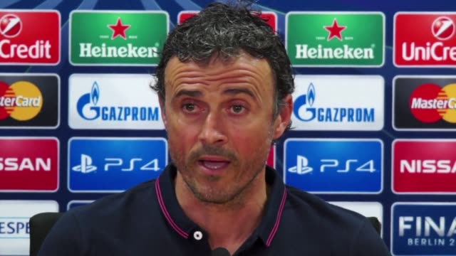 vídeos y material grabado en eventos de stock de first year fc barcelona manager luis enrique insisted on tuesday that the idea of football embodied by the club for many years is the main reason for... - fiabilidad