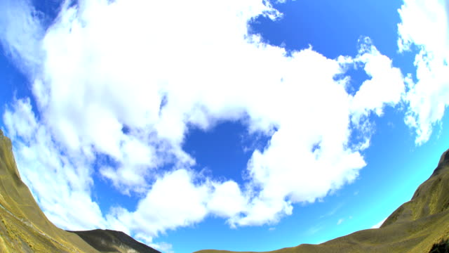 fish eye photography time lapse cloudscape new zealand - new zealand southern alps stock videos & royalty-free footage