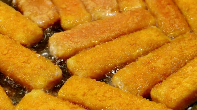 fish finger - breaded stock videos and b-roll footage