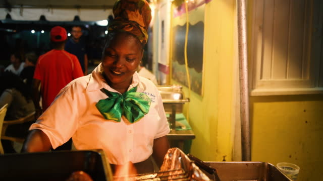 fish fry - caribbean stock videos & royalty-free footage