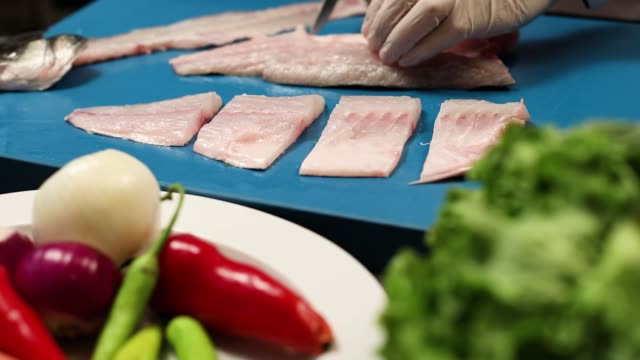 fish grill - sea bass stock videos & royalty-free footage