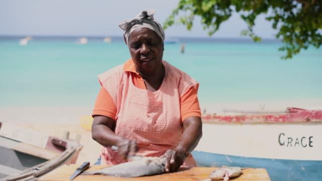 fish market - caribbean stock videos & royalty-free footage