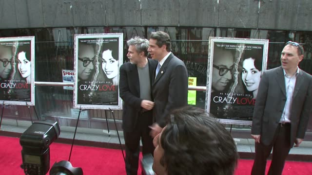 fisher stevens, dan klores, and andrew cuomo at the new york premiere of the award-winning documentary 'crazy love' at the beekman 1&2 theater in new... - ドキュメンタリー映画点の映像素材/bロール