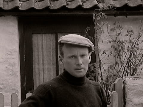 a fisherman gives his eye witness account of the lynmouth flood disaster - 1952 stock videos and b-roll footage