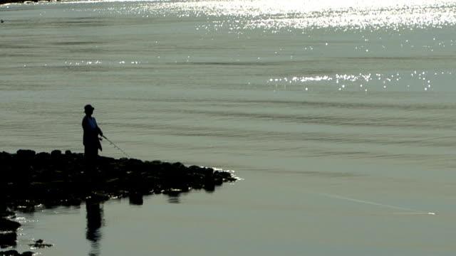 vídeos de stock, filmes e b-roll de pescador - squiggle