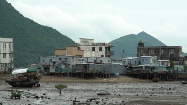 fisherman village - low tide stock videos & royalty-free footage