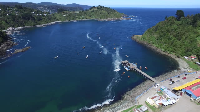 fisherman village - chile stock videos & royalty-free footage