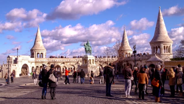 fisherman's bastion - traditionally hungarian stock videos & royalty-free footage