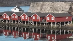 Fisherman's house on the shore of the fjord.