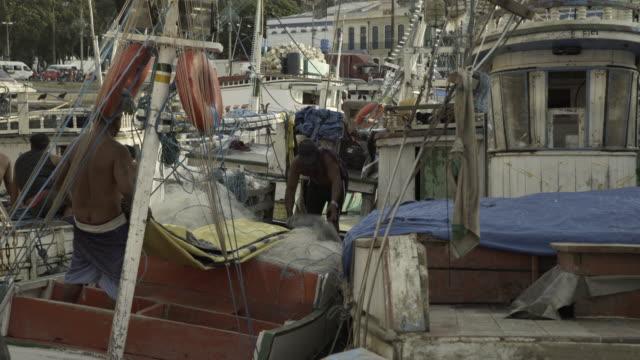 fisherman's port environment - belém brazil stock videos and b-roll footage