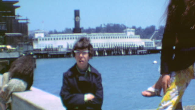 stockvideo's en b-roll-footage met fisherman's wharf and restaurants / pier and fishing / fishermans wharf on august 20 1971 in san francisco california - fisherman's wharf san francisco
