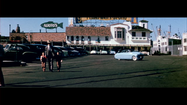 1955 fisherman's wharf in san francisco - 1950 stock videos & royalty-free footage