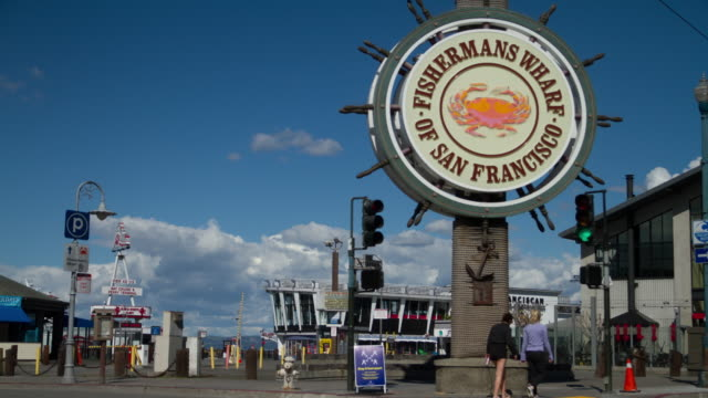 stockvideo's en b-roll-footage met fisherman's wharf san francisco - pier 39