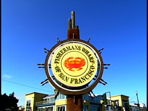 fisherman's wharf - luogo d'interesse locale video stock e b–roll