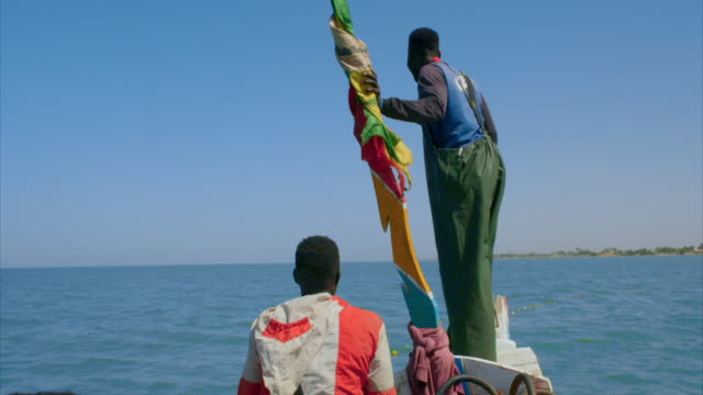 fishermen at work on senegal's coast - fisherman stock videos & royalty-free footage