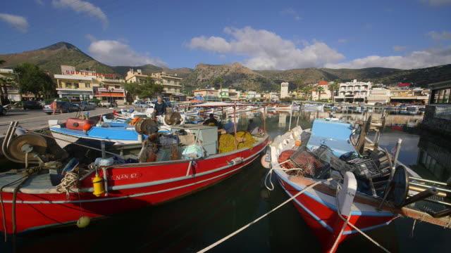 Fishermen & Fishing Boats In Harbour