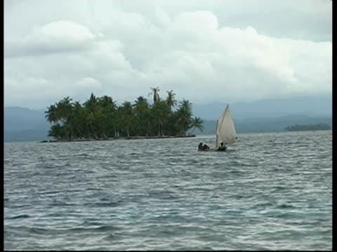 fishermen in a boat, wa, panama, central america - desert island stock videos & royalty-free footage