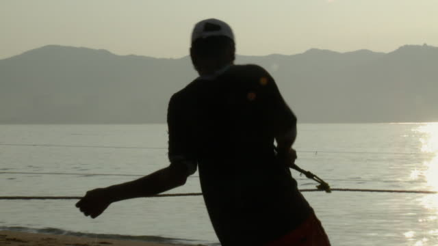 ms pan fishermen pulling net in acapulco bay / acapulco, guerrero, mexico - fishing industry stock videos & royalty-free footage
