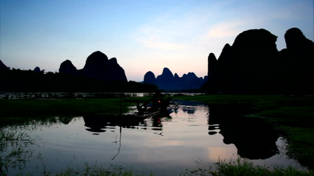 fishermen - yangshuo stock videos & royalty-free footage