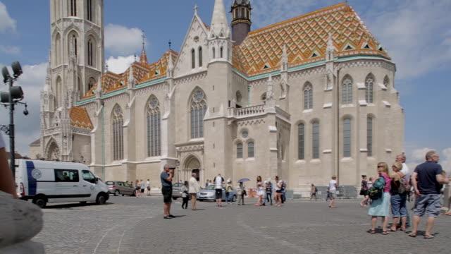 fishermen's bastion (halaszbastya), budapest, hungary, europe - hungary stock videos & royalty-free footage